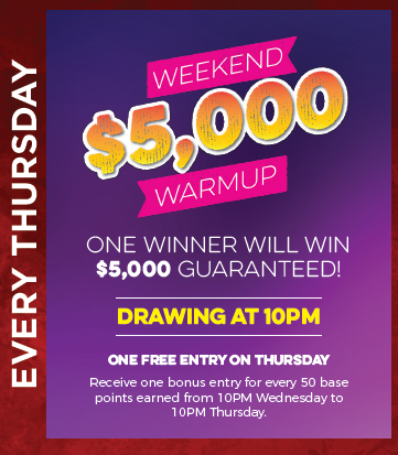 Weekend $5,000 Warmup