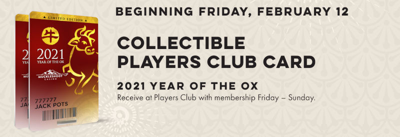 Collectible Players Club Card, 2021 Year of the Ox