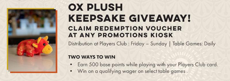 Ox Plush Keepsake Giveaway